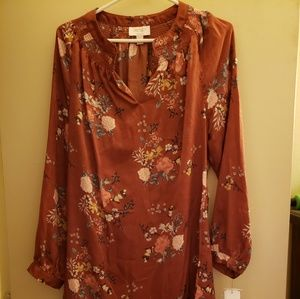Laundry by Shelli Segal Bronze Floral Dress